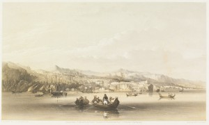 View of Trebizond from the sea by Sir Oswald Walters Brierly in 1856