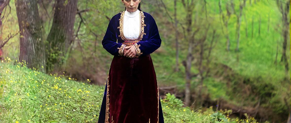 Armenian woman in national costume, Artvin