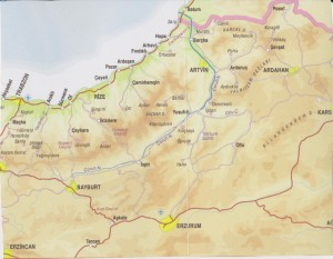 Figure 3. Northeast corner of Turkey's Black Sea region (scale 1cm = 20 km)9