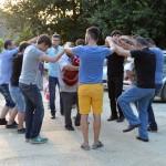 People by dancing Black Sea folk dance, horon, and playing tulum Photos: © Copyright özhan Öztürk