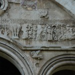 Seljuk symbols star and cresent from Hagia Sophia Wall Photo: © Özhan Öztürk
