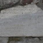 Kaymakli monastery marble inscription from Trabzon Photo: © Özhan Öztürk