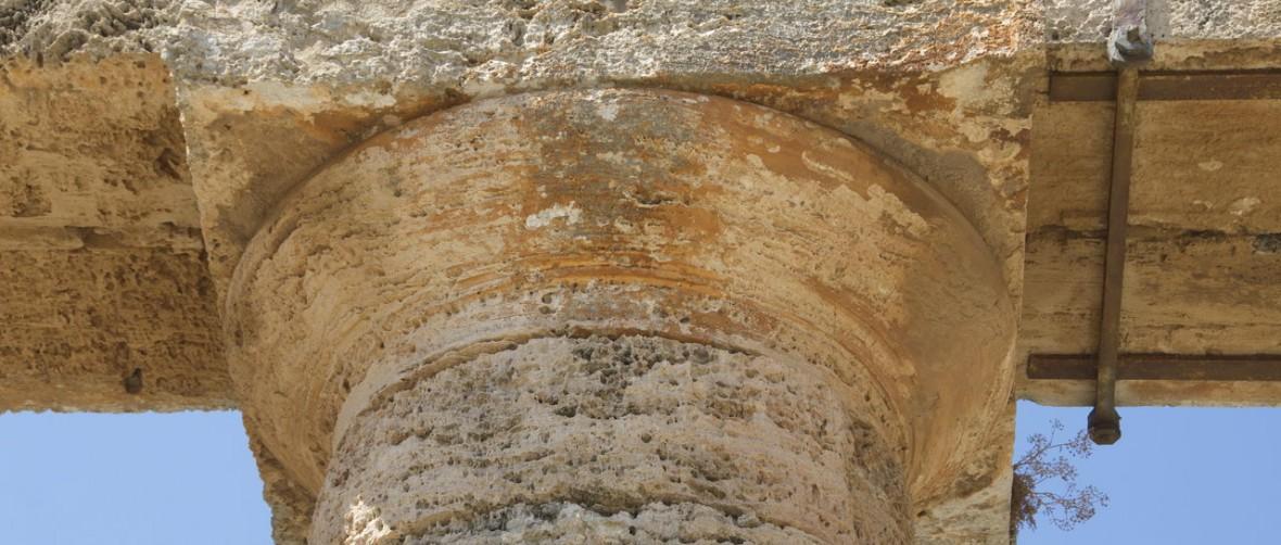Greek temple column, Sicily Segesta