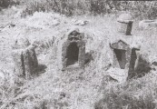 Plate 1 Stavri tombstones in the shape of churches (Ballance et al. 1966, p. 294)