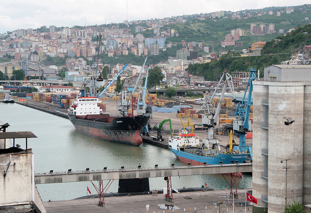 Trabzon Seaport at the Black Sea
